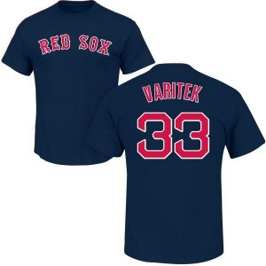 Jason Varitek Boston Red Sox Men's Navy Roster Name & Number T-Shirt -
