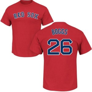 Wade Boggs Boston Red Sox Men's Scarlet Roster Name & Number T-Shirt -