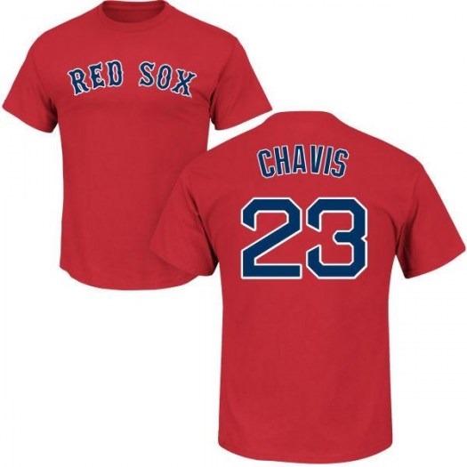 Michael Chavis Boston Red Sox Youth Scarlet Roster Name & Number T-Shirt -