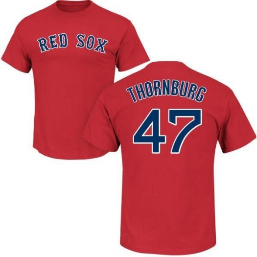 Tyler Thornburg Boston Red Sox Youth Scarlet Roster Name & Number T-Shirt -